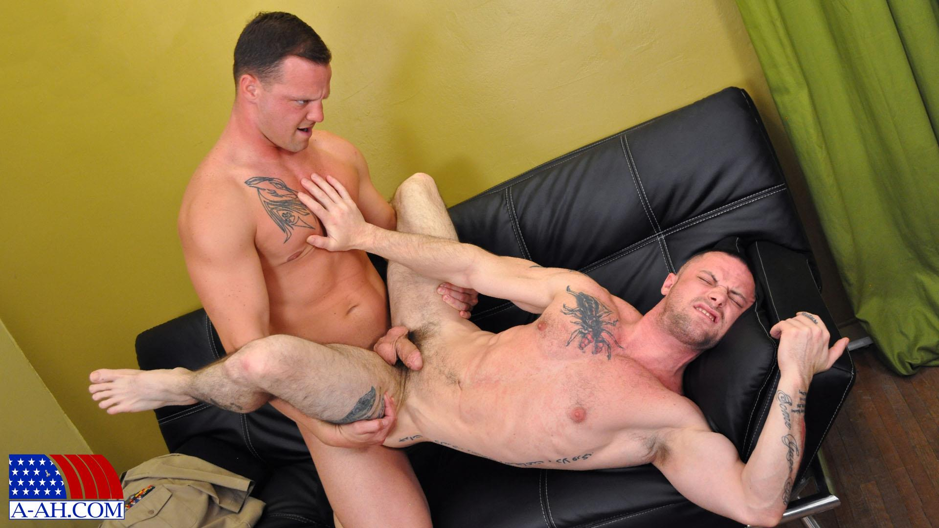 All American Heroes NAVY CORPSMAN LOGAN FUCKS SERGEANT MILES Military Guys Fucking Bareback Amateur Gay Porn 11