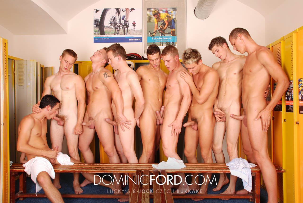 Dominic Ford 8 Guy Jocks Big Uncut Cock Bukkake Czech Amateur Gay Porn 388