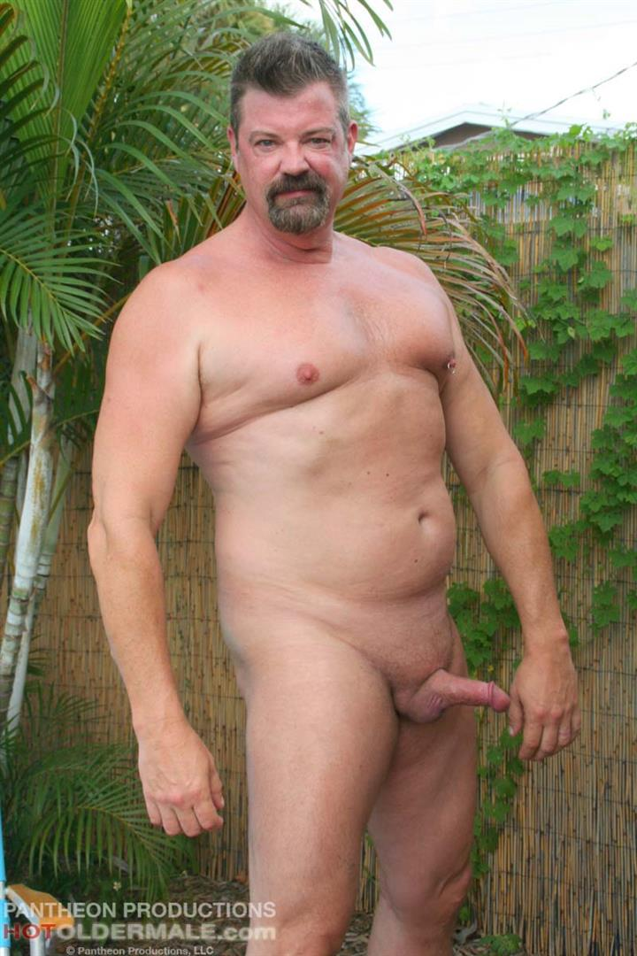 Hot Older Male Mitch Davis Beefy Chubby Smooth Daddy Jerking His Thick Cock Amateur Gay Porn 06