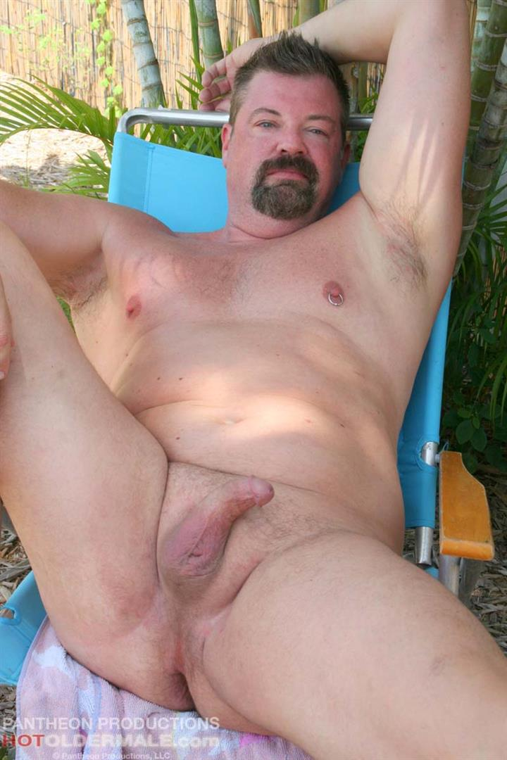 Hot Older Male Mitch Davis Beefy Chubby Smooth Daddy Jerking His Thick Cock Amateur Gay Porn 20