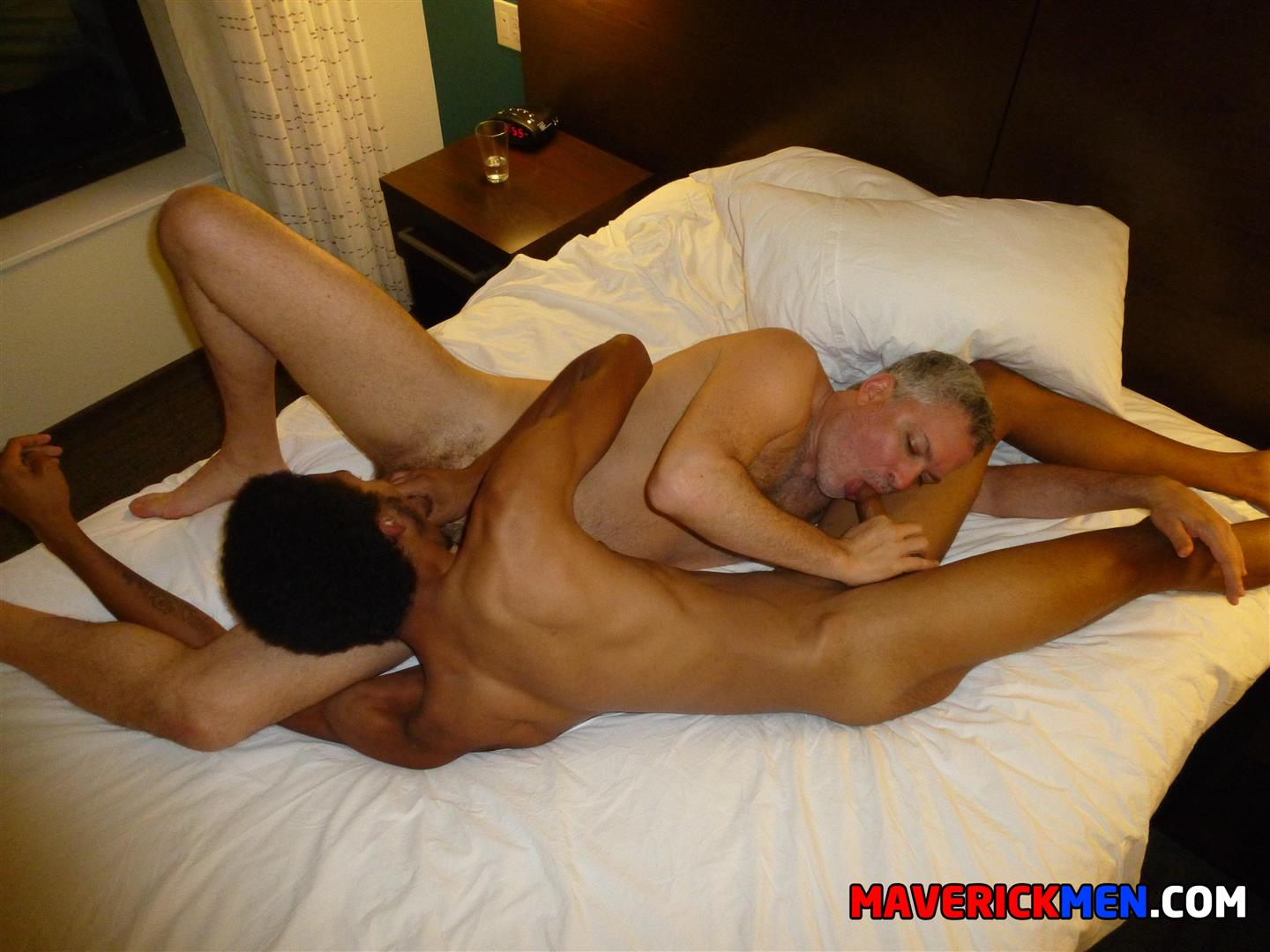 Maverick Men Richie Black Twink Takes Two Muscle Daddy Cocks Bareback Amateur Gay Porn 23