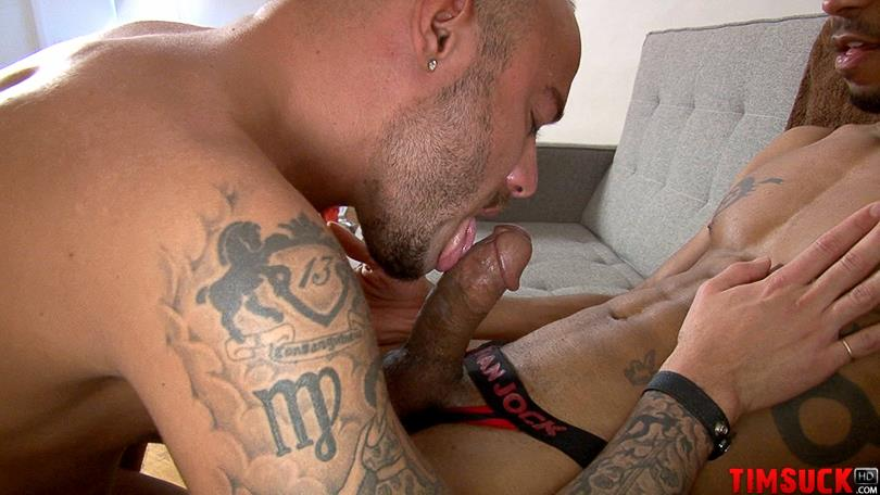 Treasure Island Media TimSUCK TimSUCK Rocky Calloway and Jin Powers White Guy Sucking A Big Black Cock Amateur Gay Porn 6