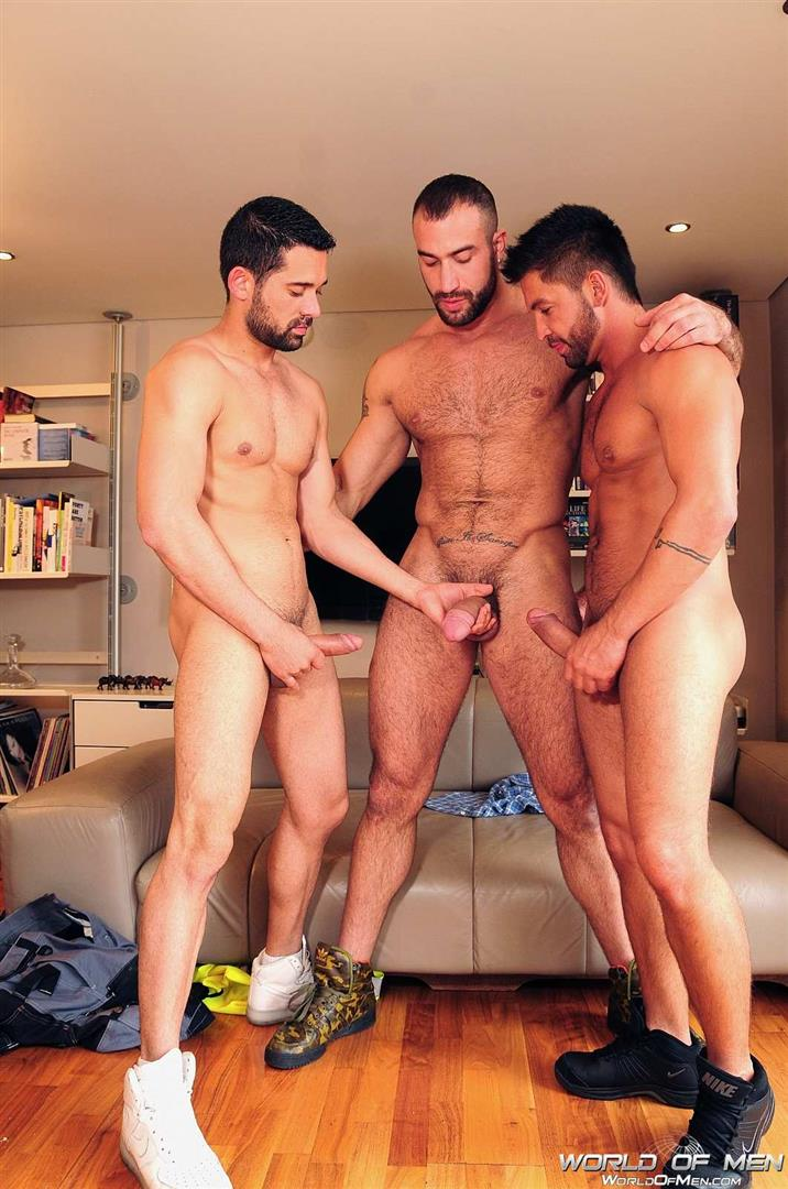 World Of Men Spencer Reed and Dominic Pacifico and Billy Baval Taking Two Huge Cocks Up The Ass Tagteam  Amateur Gay Porn 05
