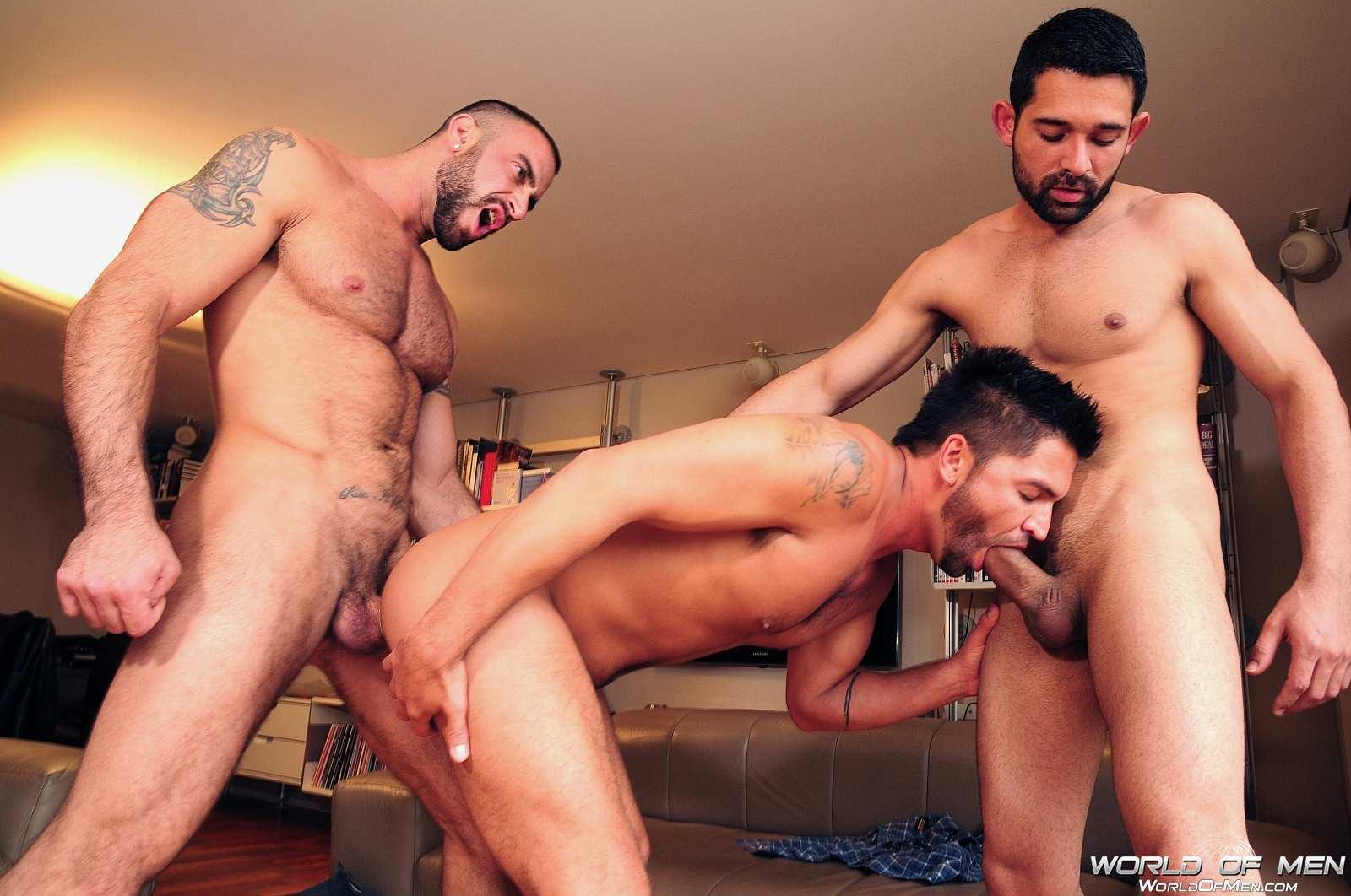 World Of Men Spencer Reed and Dominic Pacifico and Billy Baval Taking Two Huge Cocks Up The Ass Tagteam  Amateur Gay Porn 07