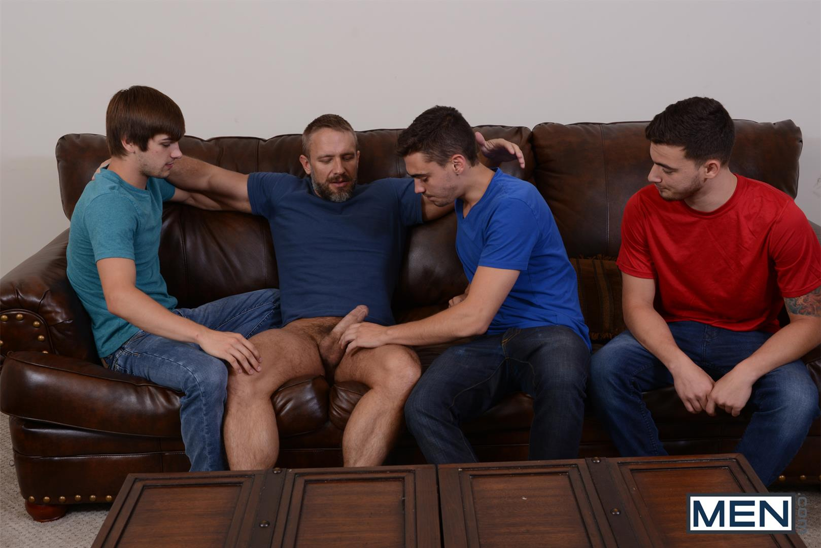 Men Jizz Orgy Asher Hawk and Dirk Caber and Johnny Rapid and Trevor Spade Triple Penetrated In the Ass Amateur Gay Porn 03