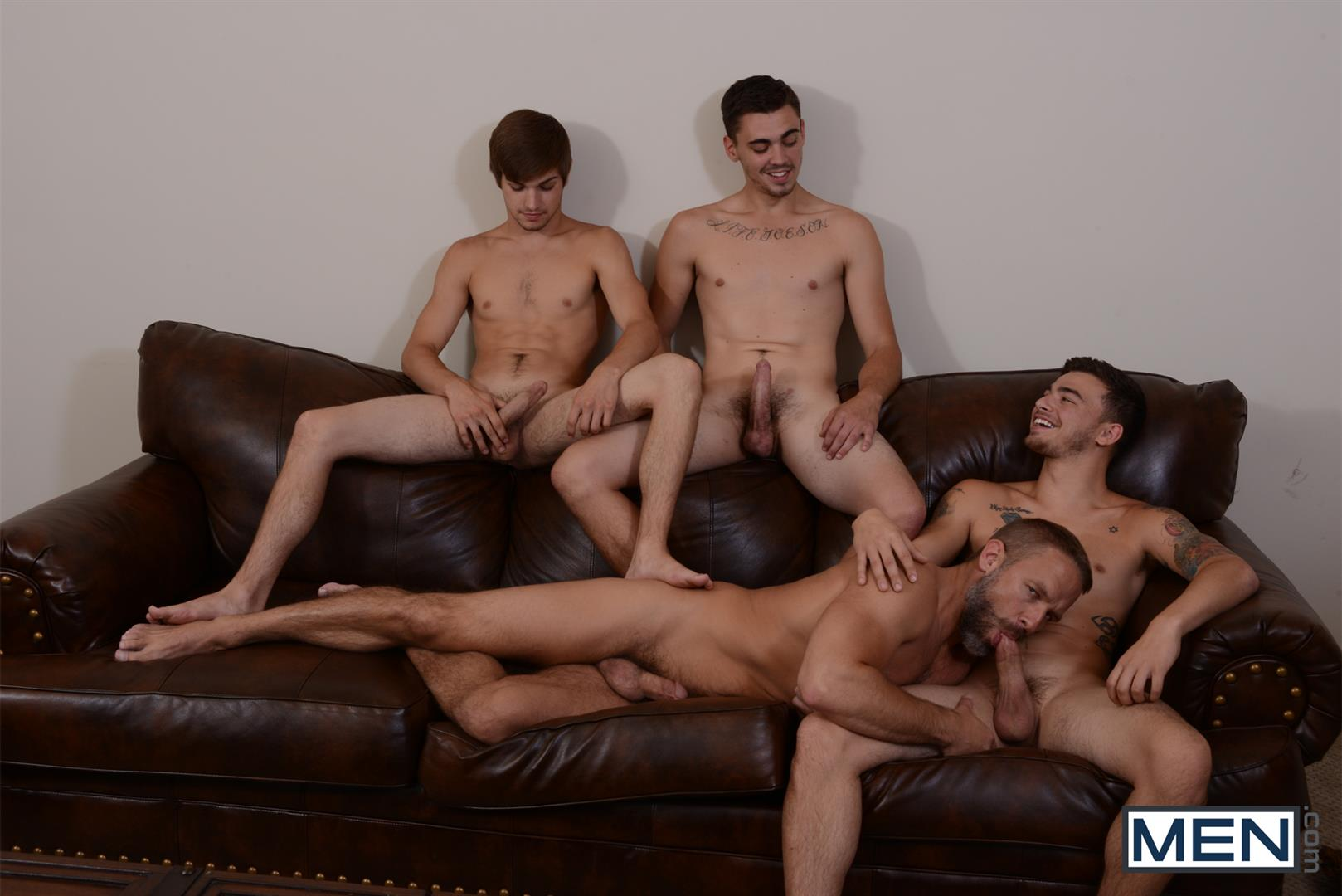 Men Jizz Orgy Asher Hawk and Dirk Caber and Johnny Rapid and Trevor Spade Triple Penetrated In the Ass Amateur Gay Porn 09