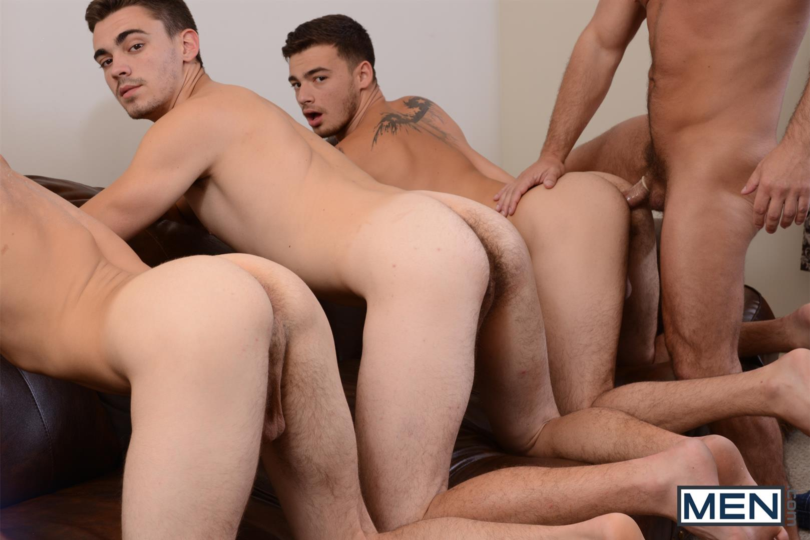 Men Jizz Orgy Asher Hawk and Dirk Caber and Johnny Rapid and Trevor Spade Triple Penetrated In the Ass Amateur Gay Porn 12