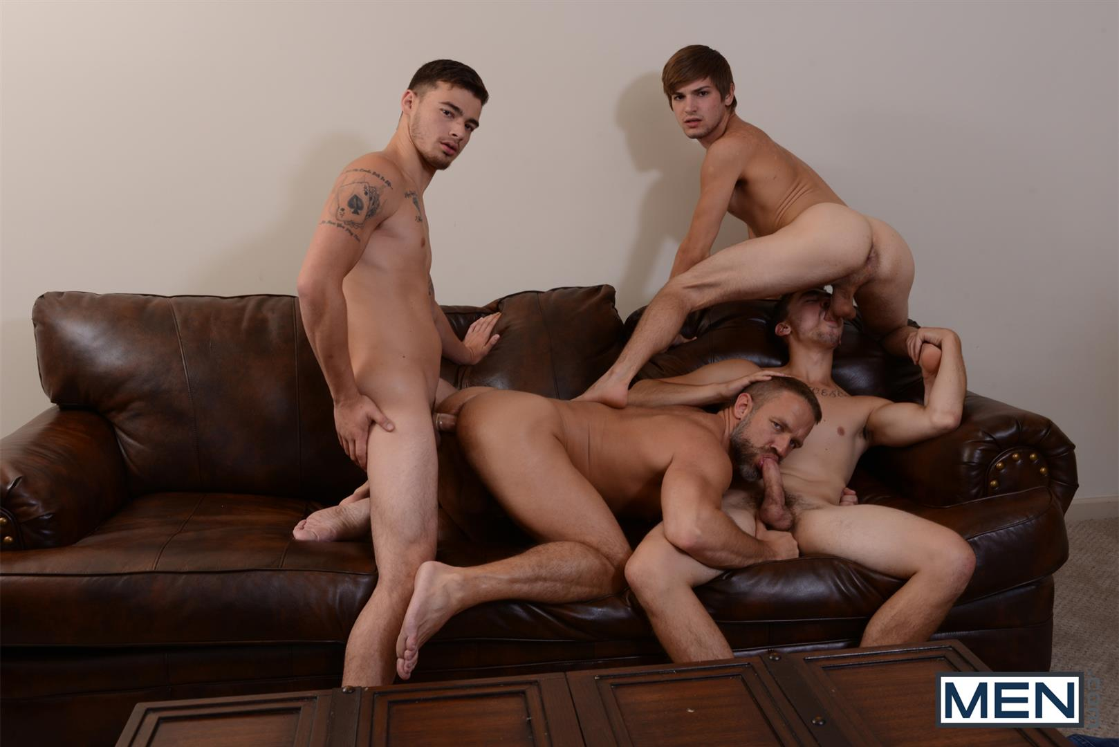 Men Jizz Orgy Asher Hawk and Dirk Caber and Johnny Rapid and Trevor Spade Triple Penetrated In the Ass Amateur Gay Porn 17
