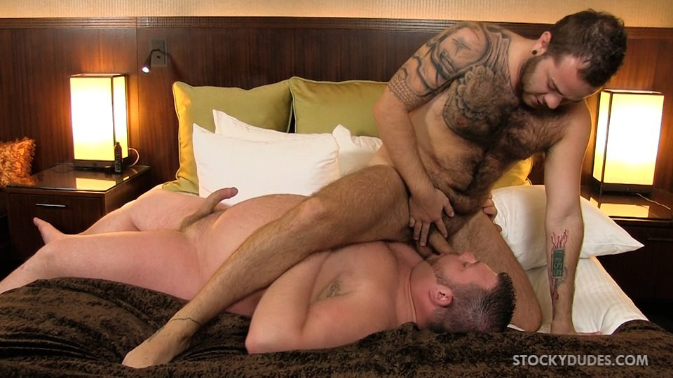 Stocky Dudes Colt Woods and Zeke Johnson Chubby Fat Guy Fucking A Hairy Cub Bareback 05