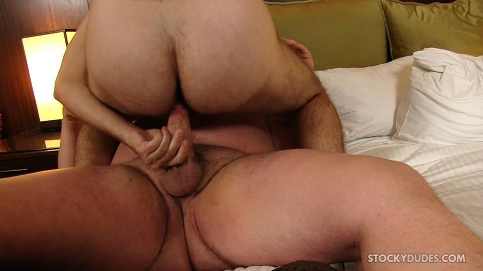 Stocky Dudes Colt Woods and Zeke Johnson Chubby Fat Guy Fucking A Hairy Cub Bareback 10