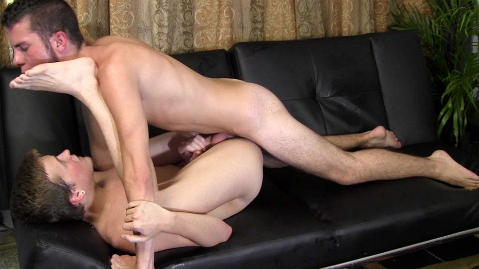 Straight Fraternity JC and Steffan Straight Twink Sucks First Cock And Barebacks Amateur Gay Porn 23
