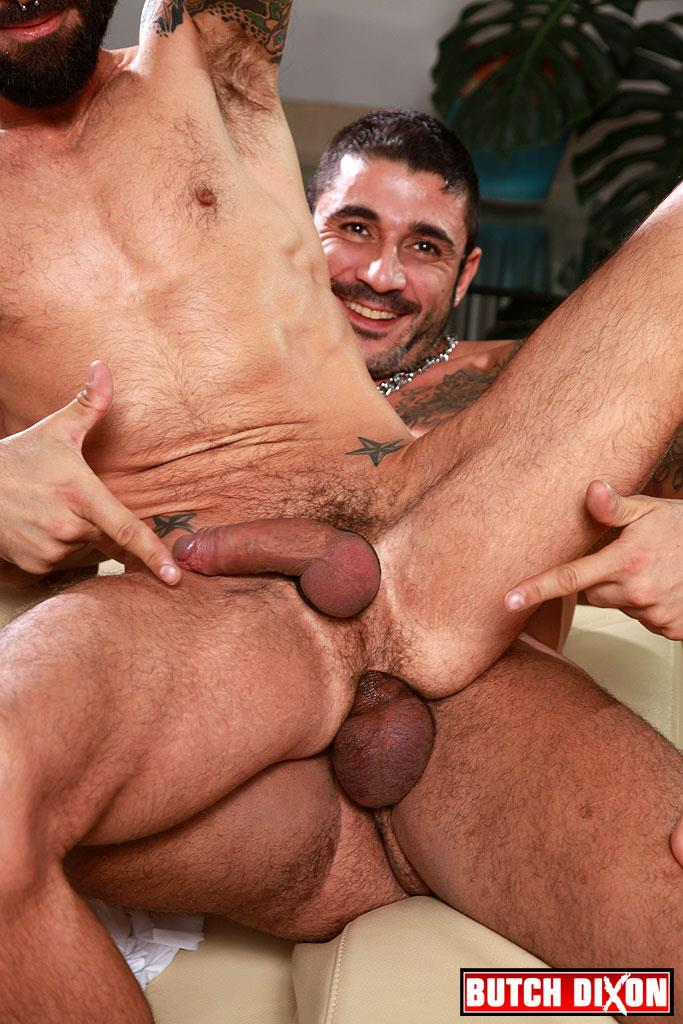 Butch Dixon Kris Kurt and Max Toro Big Uncut Cocks Bareback Fucking Amateur Gay Porn 22