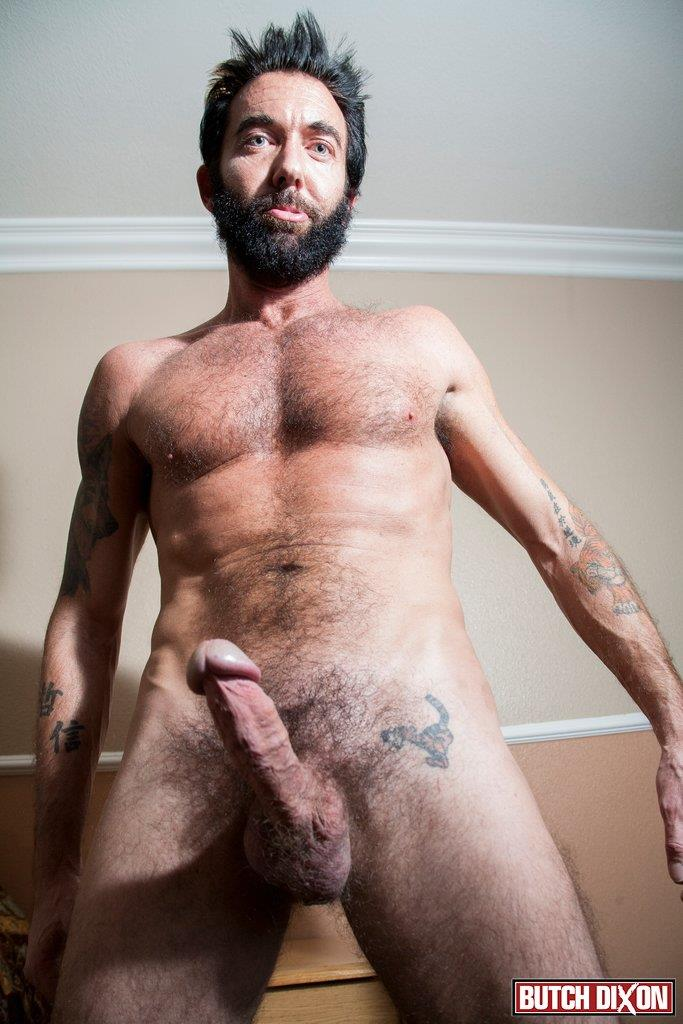 Butch Dixon Tom Nero Hairy Daddy Jerking Off A Big Fat Mushroom Head Cock Amateur Gay Porn 06