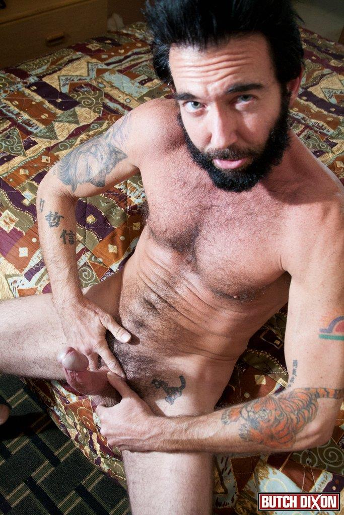 Butch Dixon Tom Nero Hairy Daddy Jerking Off A Big Fat Mushroom Head Cock Amateur Gay Porn 07