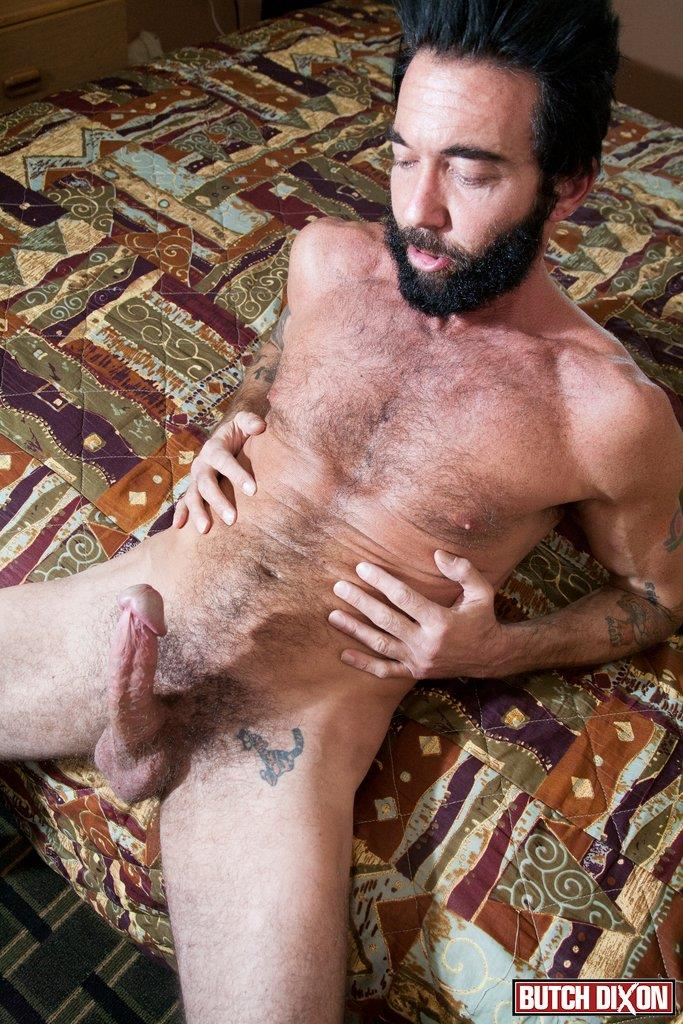 Butch Dixon Tom Nero Hairy Daddy Jerking Off A Big Fat Mushroom Head Cock Amateur Gay Porn 08