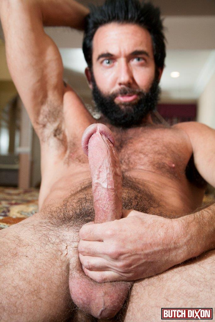 Butch Dixon Tom Nero Hairy Daddy Jerking Off A Big Fat Mushroom Head Cock Amateur Gay Porn 09