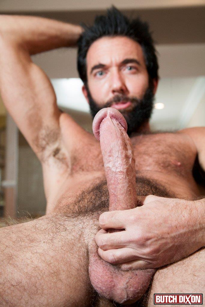 Butch Dixon Tom Nero Hairy Daddy Jerking Off A Big Fat Mushroom Head Cock Amateur Gay Porn 10