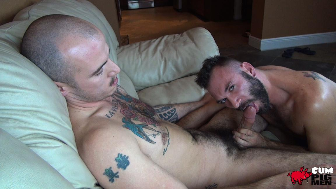 Cum Pig Men Ethan Palmer and Cam Christou Sucking Cock and Eating Cum Amateur Gay Porn 34