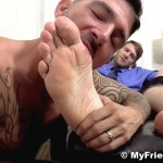 My Friends Feet Colby Keller and Johnny Hazzard Jerking Off And Feet Worship Amateur Gay Porn 11 150x150 Colby Keller Jerks Off While Getting His Feet Worshipped By Johnny Hazzard