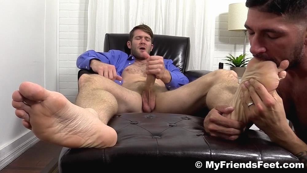 My Friends Feet Colby Keller and Johnny Hazzard Jerking Off And Feet Worship Amateur Gay Porn 19