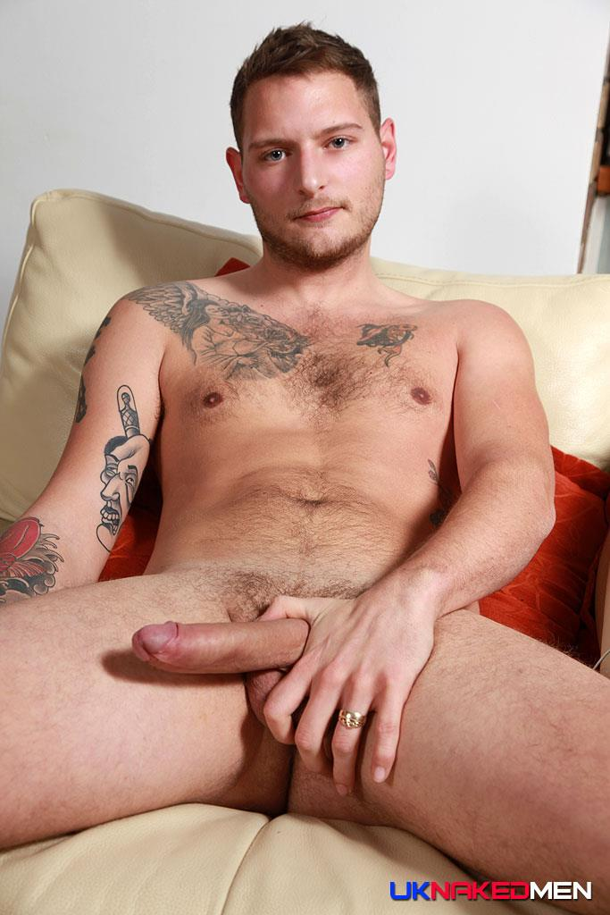 UK Naked Men Dan Stone British Guy Naked With Big Uncut Cock Amateur Gay Porn 08