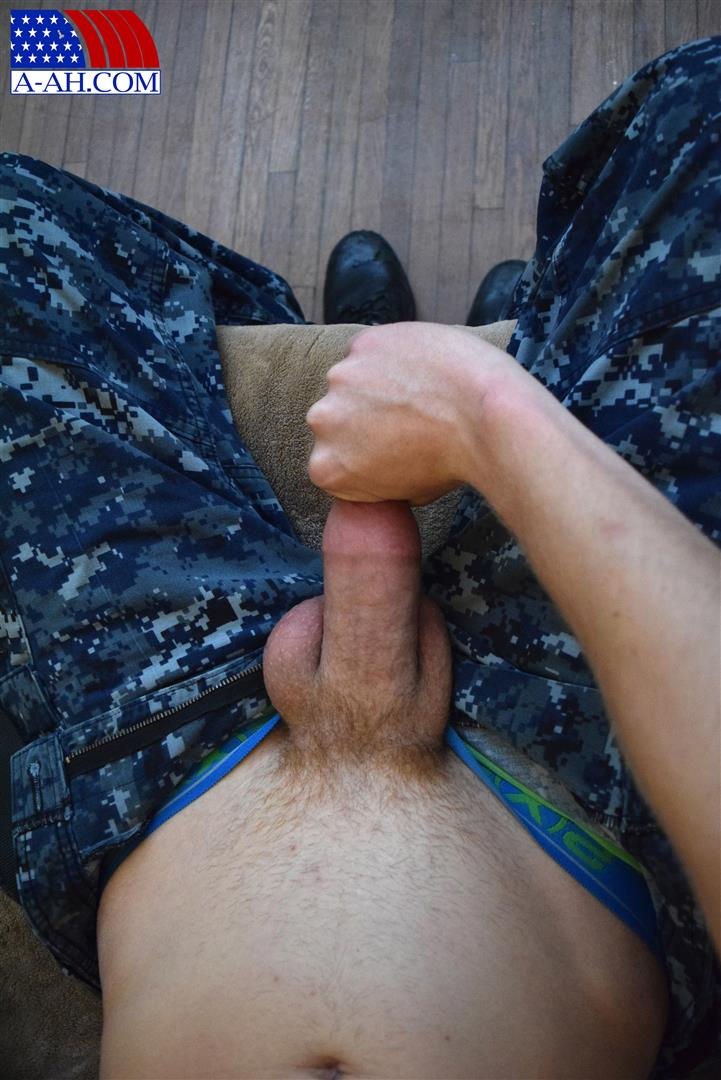All American Heroes Petty Officer Jacob Big Cock Jerk Off Naked Navy Guy Amateur Gay Porn 05