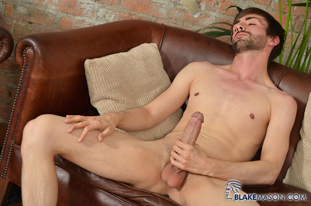 Blake Mason Ryan Mason British Guy Stroking His Huge Uncut Cock Cum Amateur Gay Porn 07
