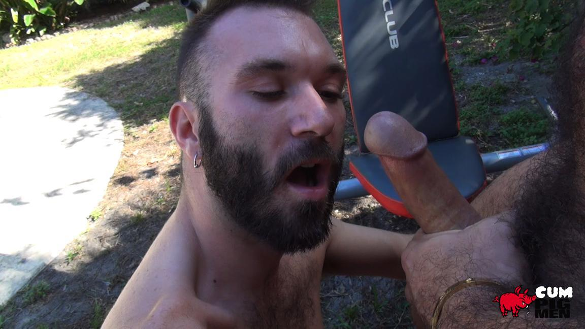 Cum Pig Men Alessio Romero and Ethan Palmer Hairy Muscle Latino Daddy Cocksucking Amateur Gay Porn 13