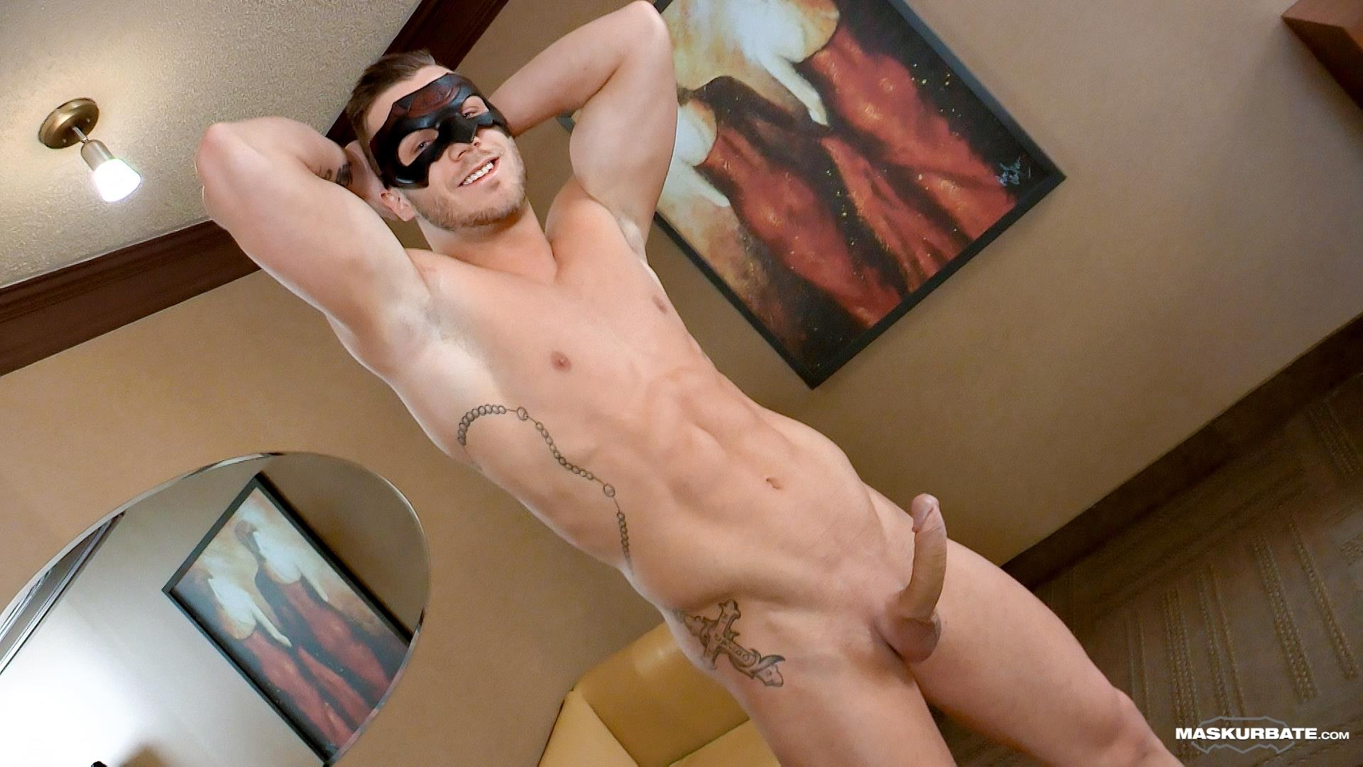 Maskurbate Mike Muscle Hunk With A Big Uncut Cock Jerking Off Amateur Gay Porn 08