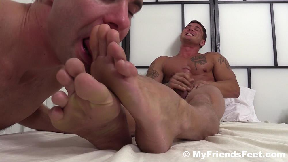 My Friends Feet Sebastian Young and Cameron Kincade Male Feet Worship Fetish Amateur Gay Porn 16