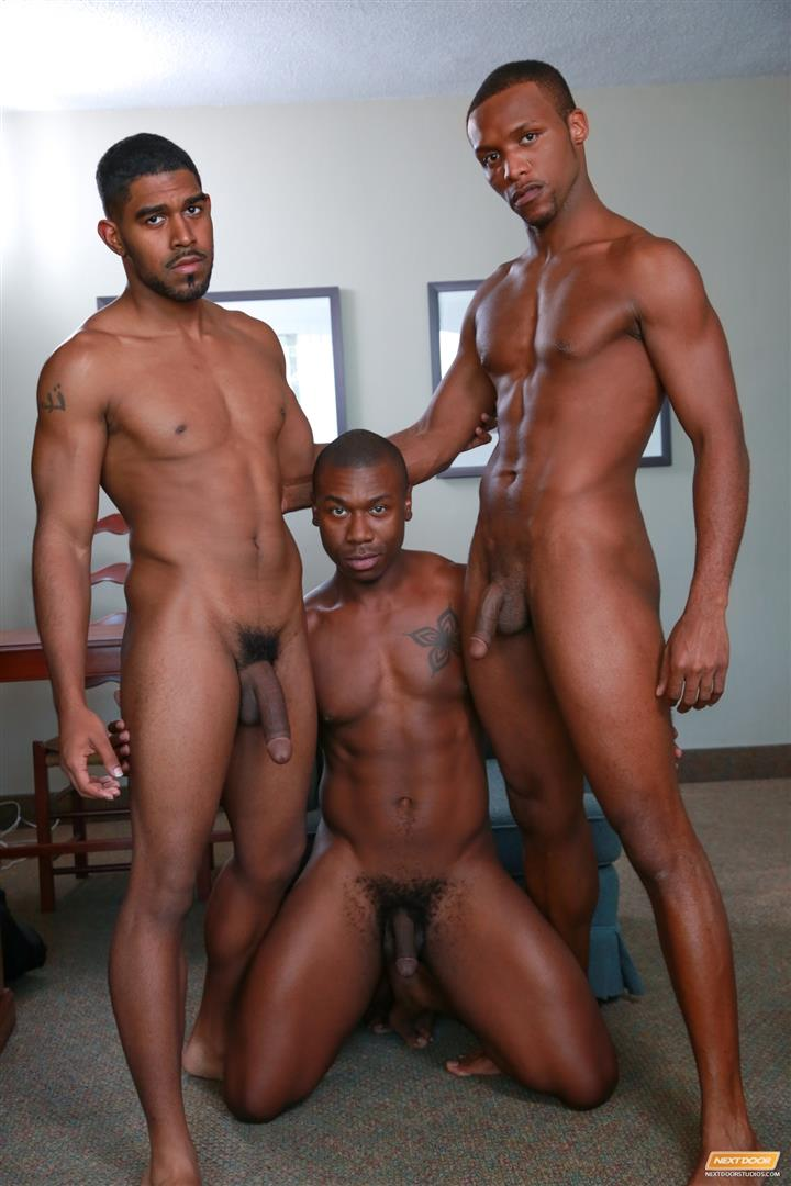 Next Door Ebony Damian Brooks and XL and Andre Donovan Black Naked Men Fucking Amateur Gay Porn 11