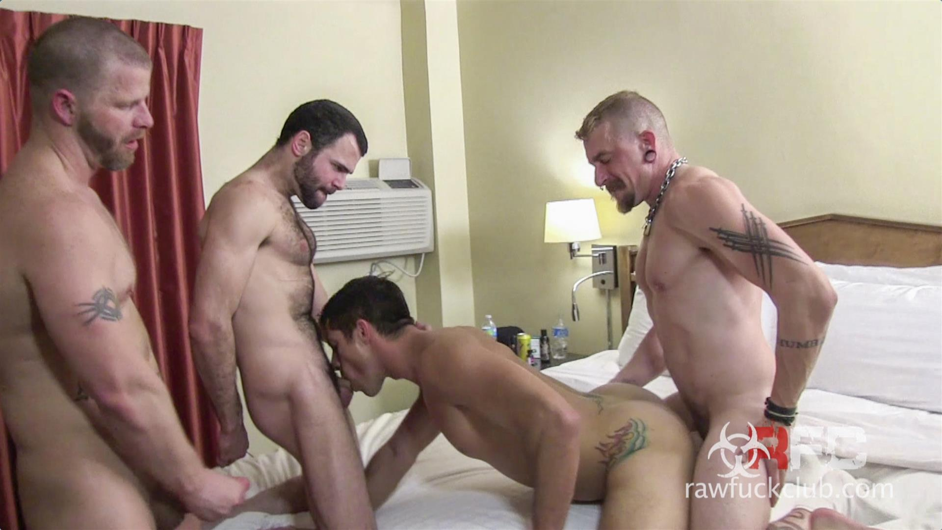 Raw Fuck Club Dylan Saunders and Dusty Williams and Jeff Kendall and Jeremy Stevens BBBH Amateur Gay Porn 07