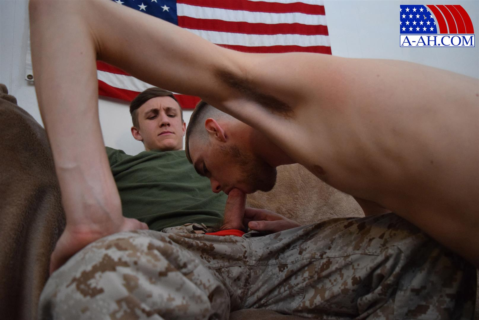 All American Heroes Jett and Alex Naked Army Guy Gets First Gay Blowjob Amateur Gay Porn 05