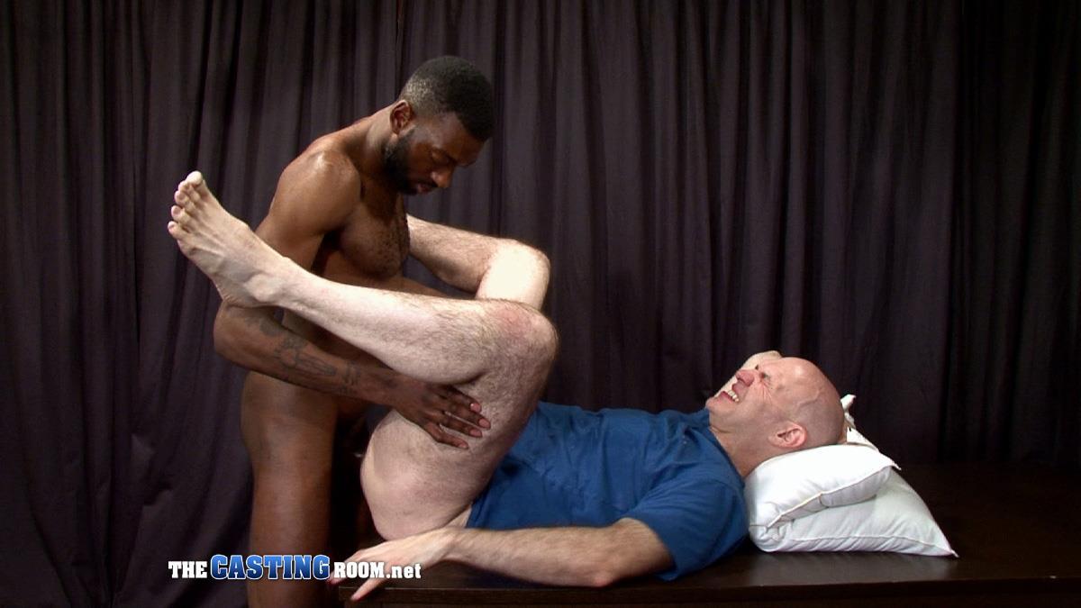 The Casting Room Jospeh Big Black Cock Interracial Fucking White Guy Amateur Gay Porn 29