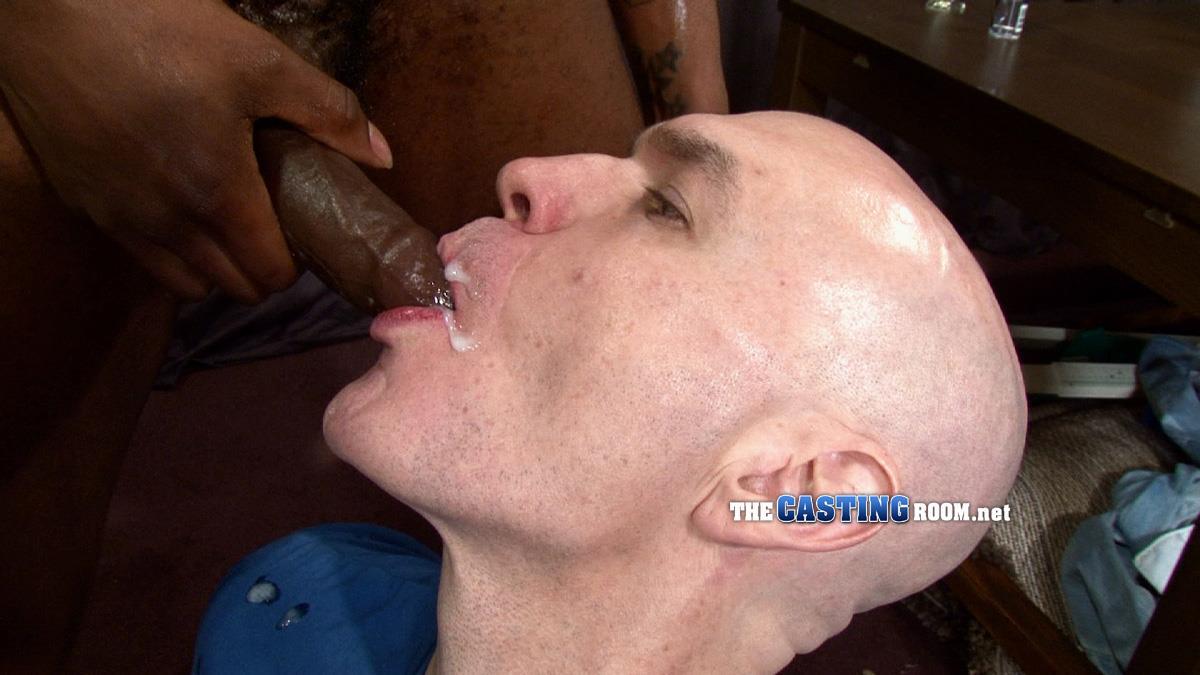 The Casting Room Jospeh Big Black Cock Interracial Fucking White Guy Amateur Gay Porn 32