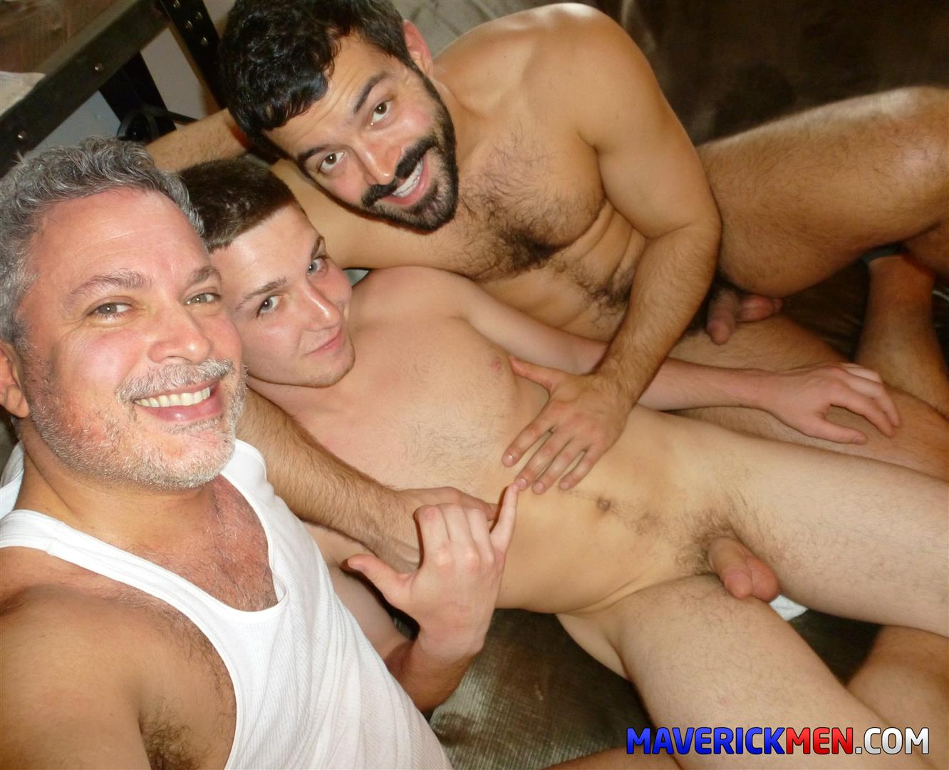 The Maverick Men Tom Hairy Twink Getting Fucked By Two Muscle Daddies Bareback BBBH Amateur Gay Porn 17
