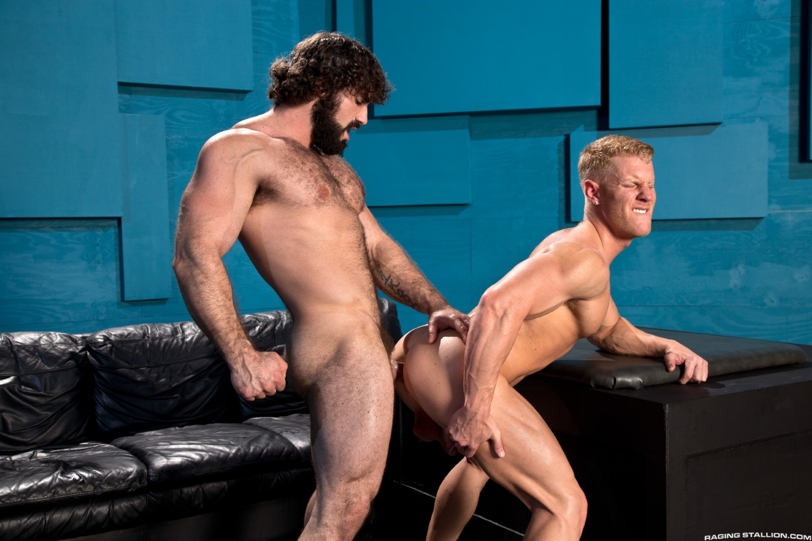 Raging Stallion Johnny V and Jaxton Wheeler Hairy Muscle Hunk Fucking Amateur Gay Porn 07