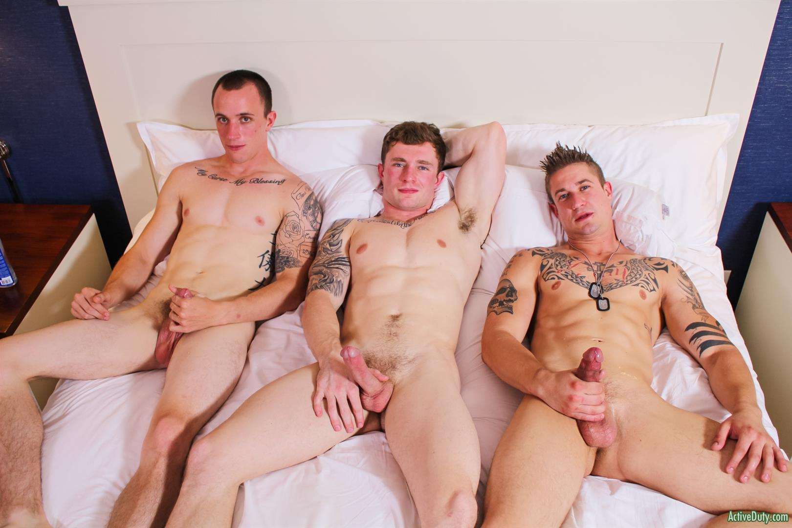 Active Duty Threeway Army Guys Bareback Sex Video Amateur Gay Porn 15
