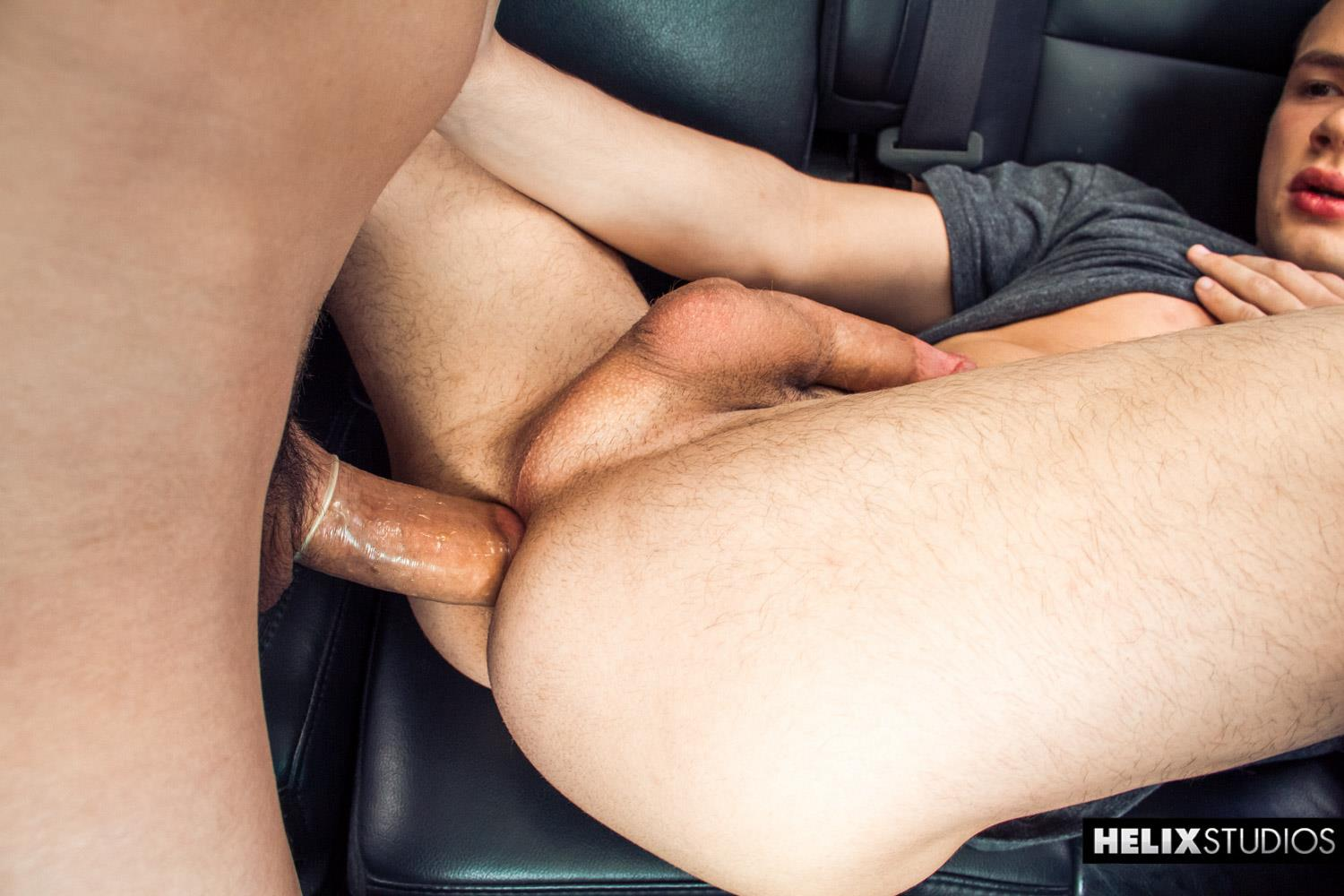 Helix Studios Troy Ryan and Logan Cross Big Cock Twinks Fucking In A Car Amateur Gay Porn 21
