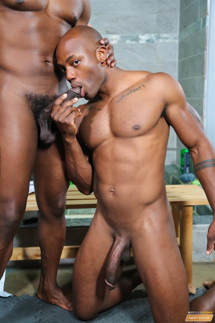 Next Door Ebony Krave Moore and Osiris Blade Big Black Cocks Dicks Fucking Amateur Gay Porn 07