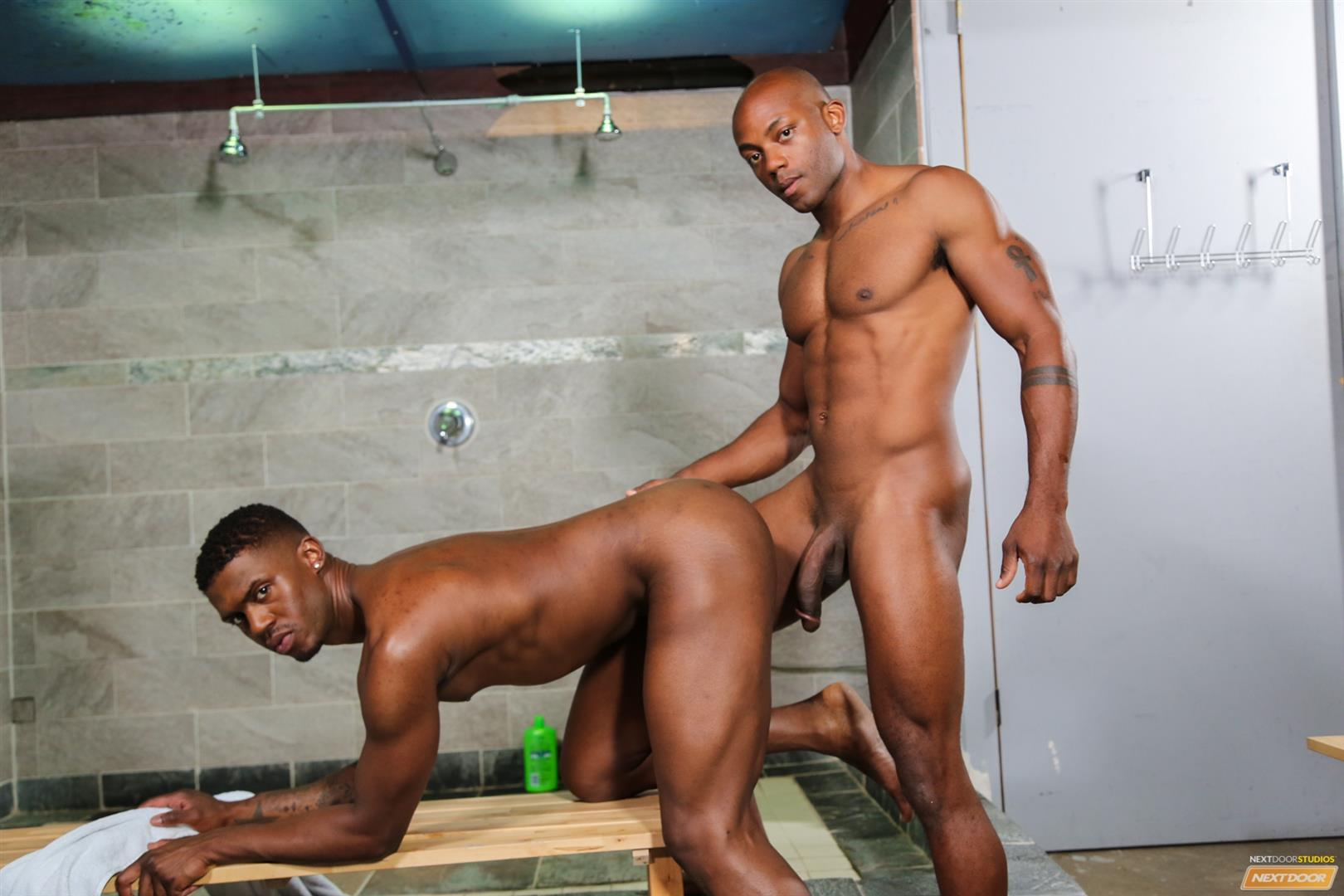 Next Door Ebony Krave Moore and Osiris Blade Big Black Cocks Dicks Fucking Amateur Gay Porn 12