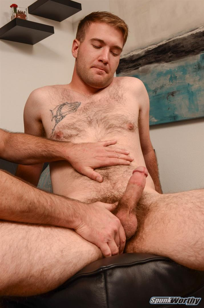 SpunkWorthy Lance Hairy Naked Marine Getting Blowjob and Rimmed Amateur Gay Porn 04