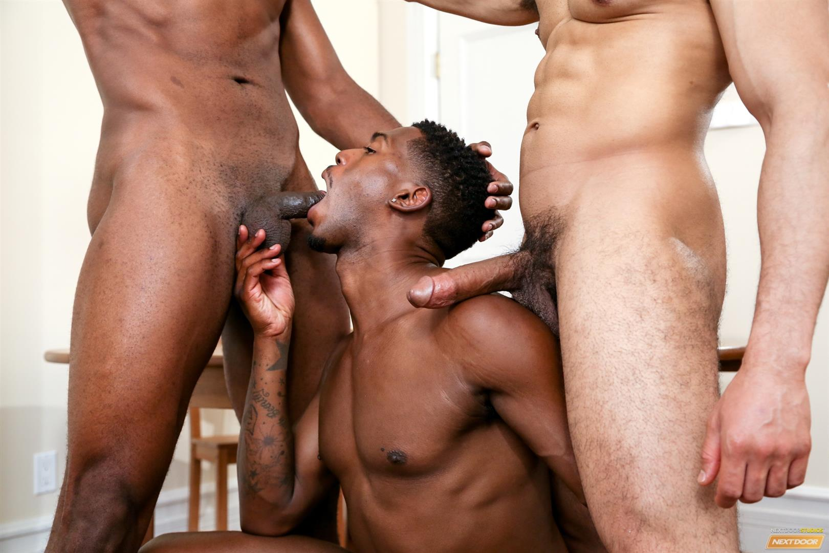 Next Door Ebony Krave Moore and Andre Donovan and Rex Cobra Big Black Cock Amateur Gay Porn 09