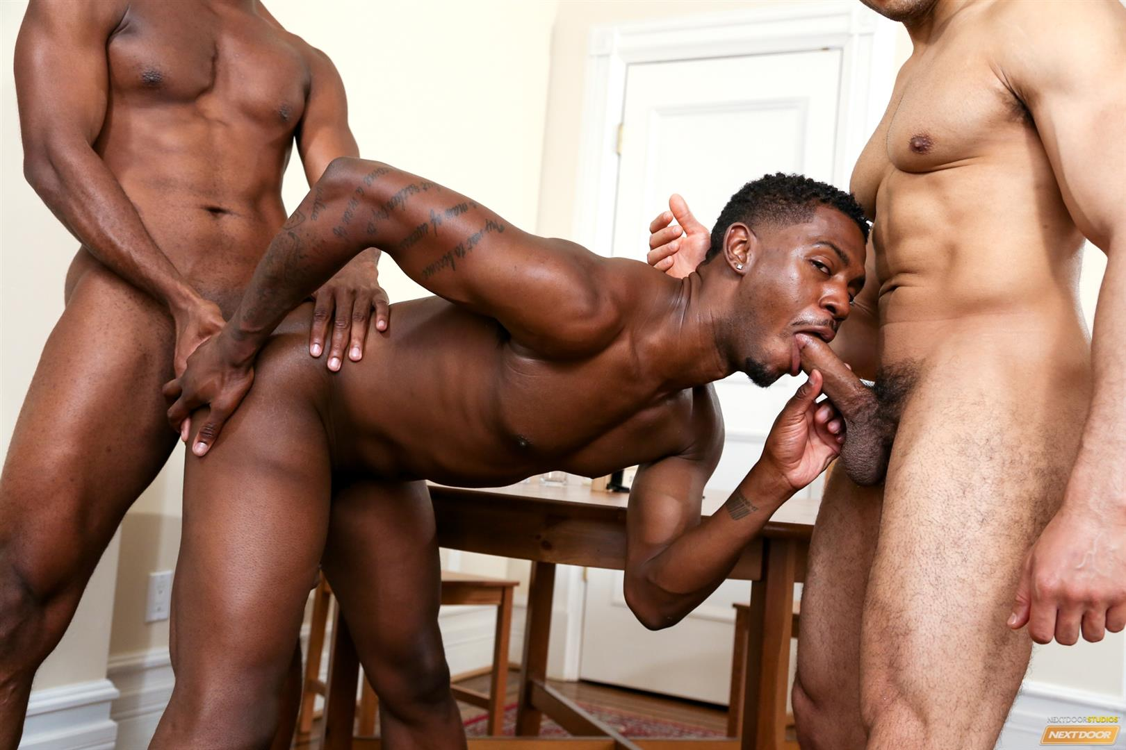 Next Door Ebony Krave Moore and Andre Donovan and Rex Cobra Big Black Cock Amateur Gay Porn 11