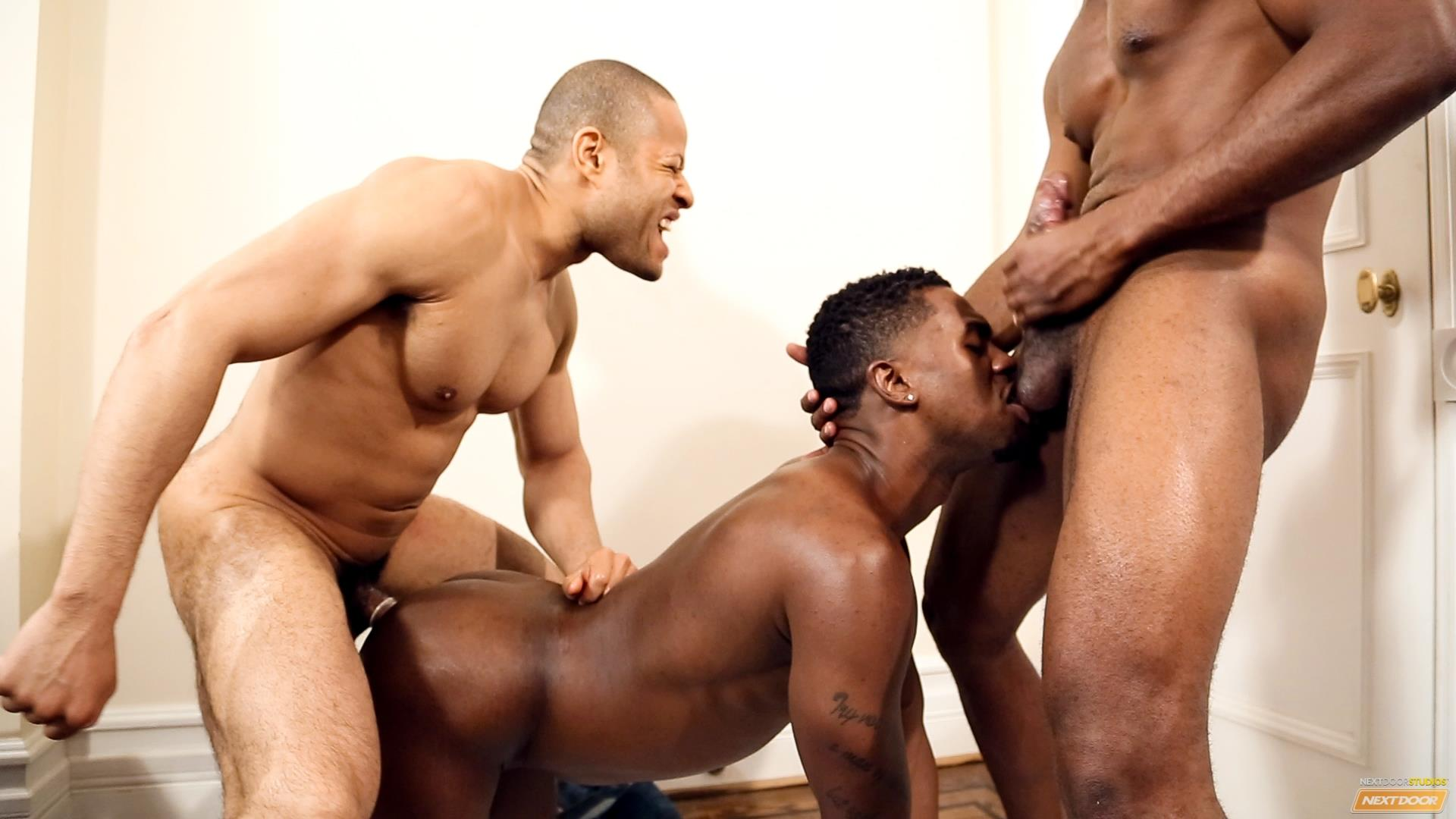 Next Door Ebony Krave Moore and Andre Donovan and Rex Cobra Big Black Cock Amateur Gay Porn 15