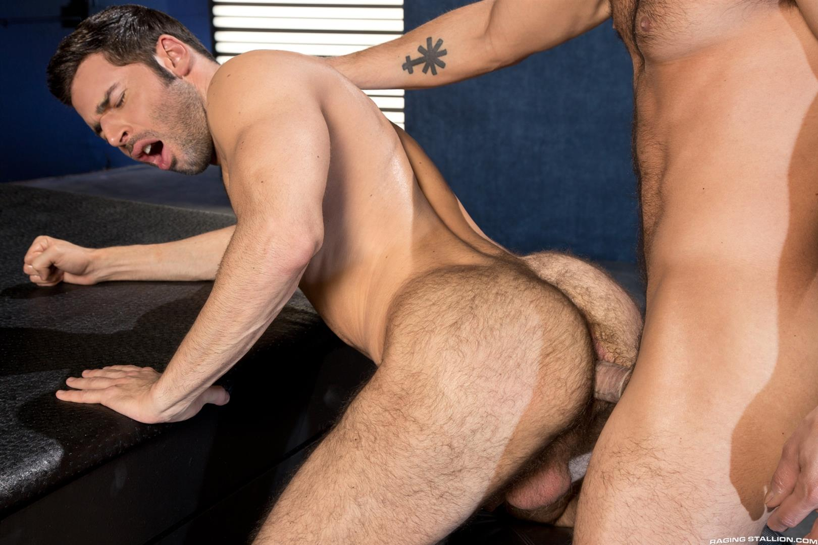 Raging Stallion Adam Ramzi and Dario Beck Hairy Ass And A Big Uncut Cock Amateur Gay Porn 13