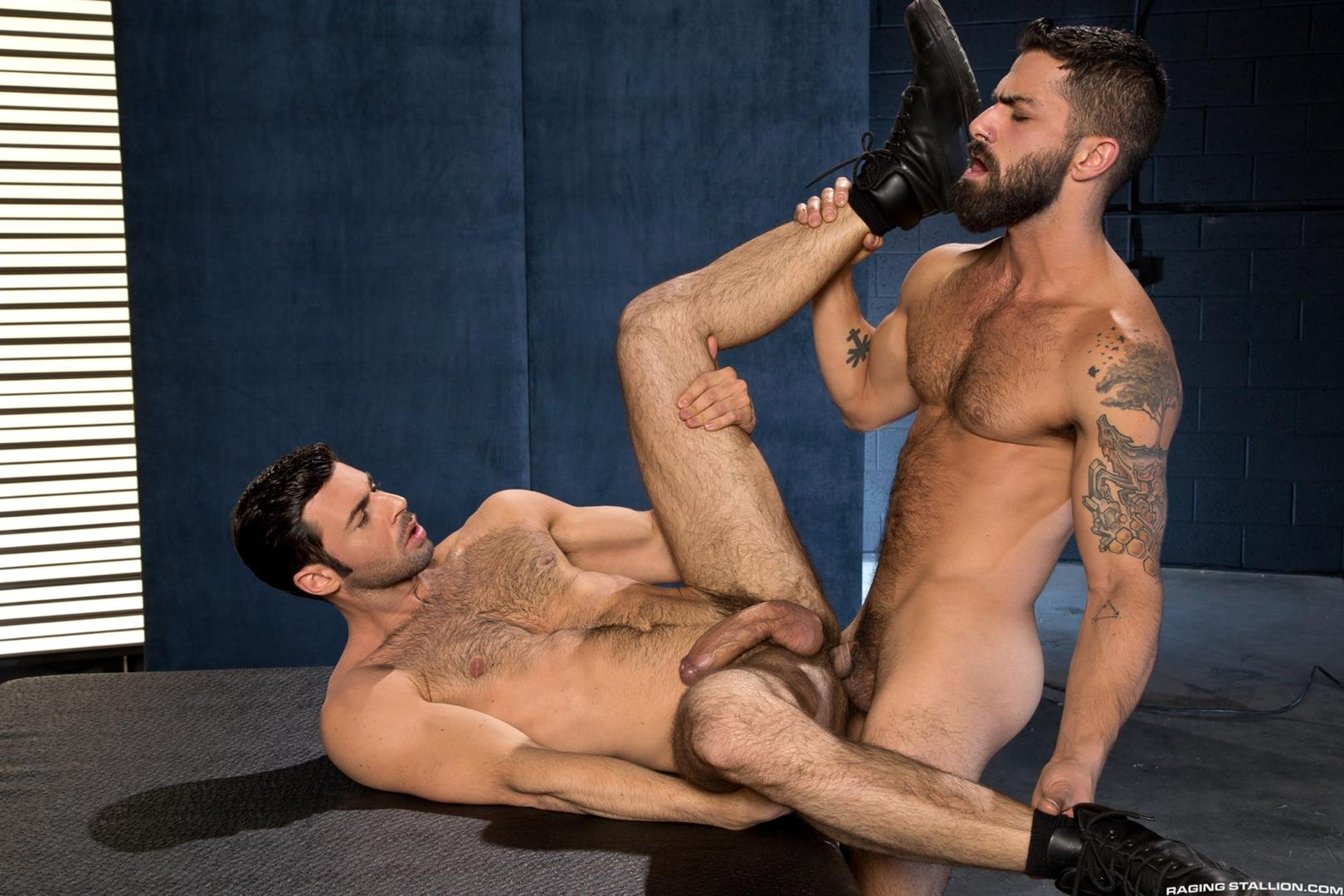 Raging Stallion Adam Ramzi and Dario Beck Hairy Ass And A Big Uncut Cock Amateur Gay Porn 14