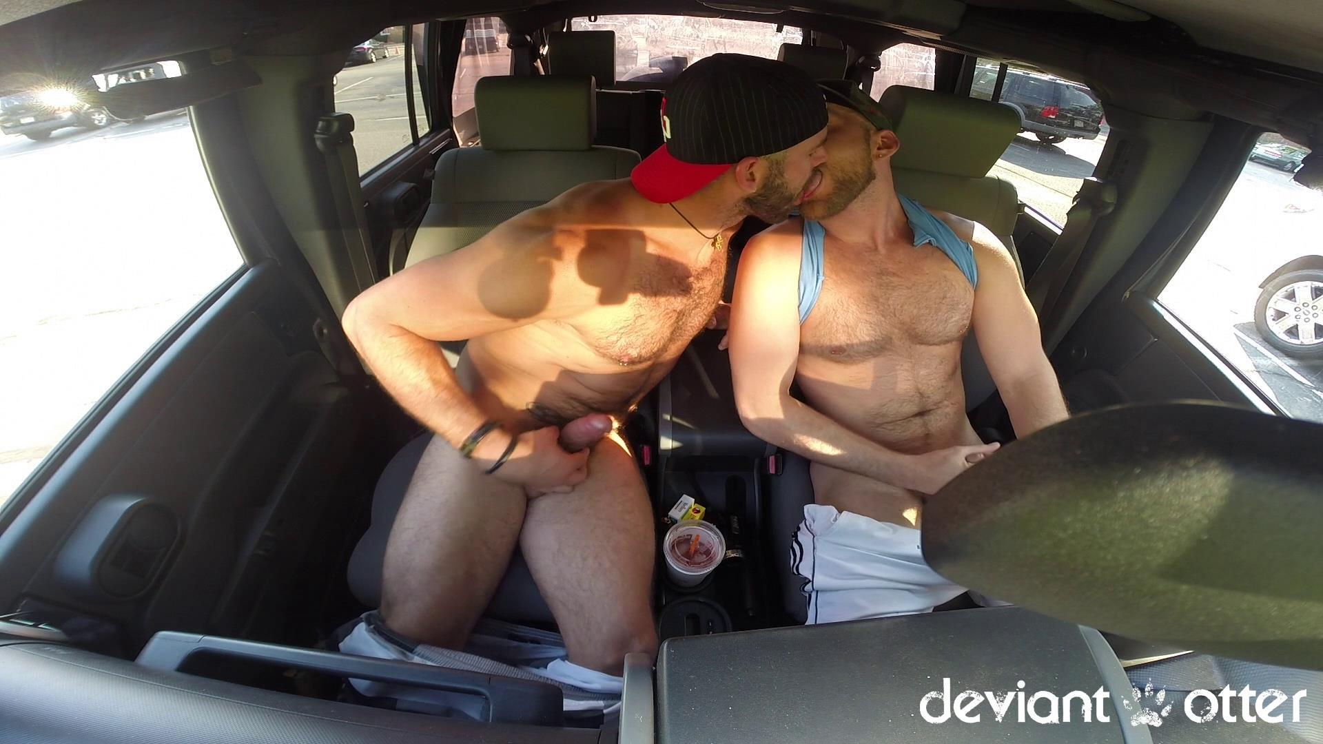 Deviant Otter Xavier Sucking Cock In Public Hairy Guys Amateur Gay Porn 12
