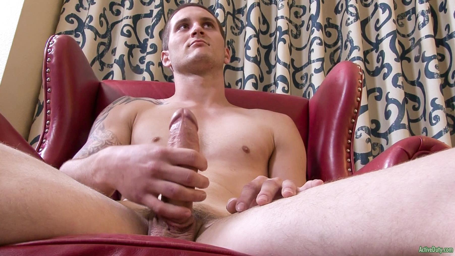 Active Duty Allen Lucas Army Private Jerking Off Big Uncut Cock Amateur Gay Porn 08