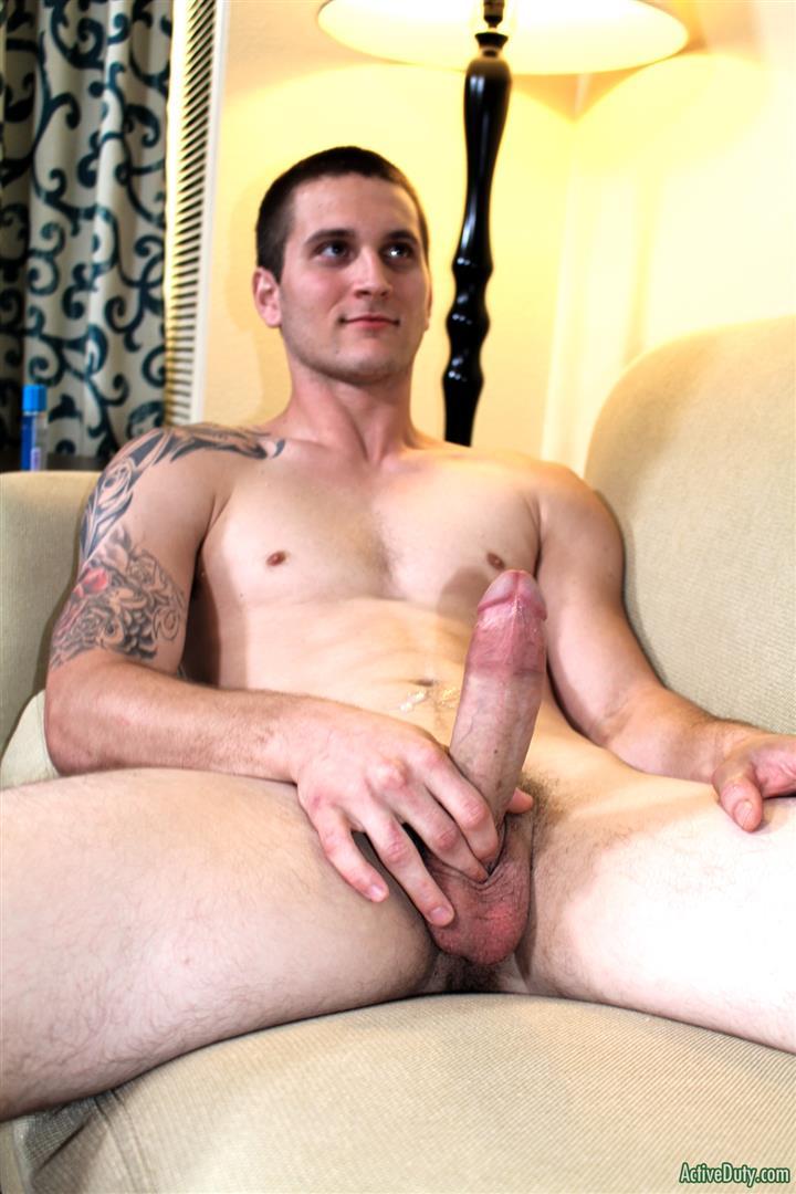 Active Duty Allen Lucas Army Private Jerking Off Big Uncut Cock Amateur Gay Porn 12